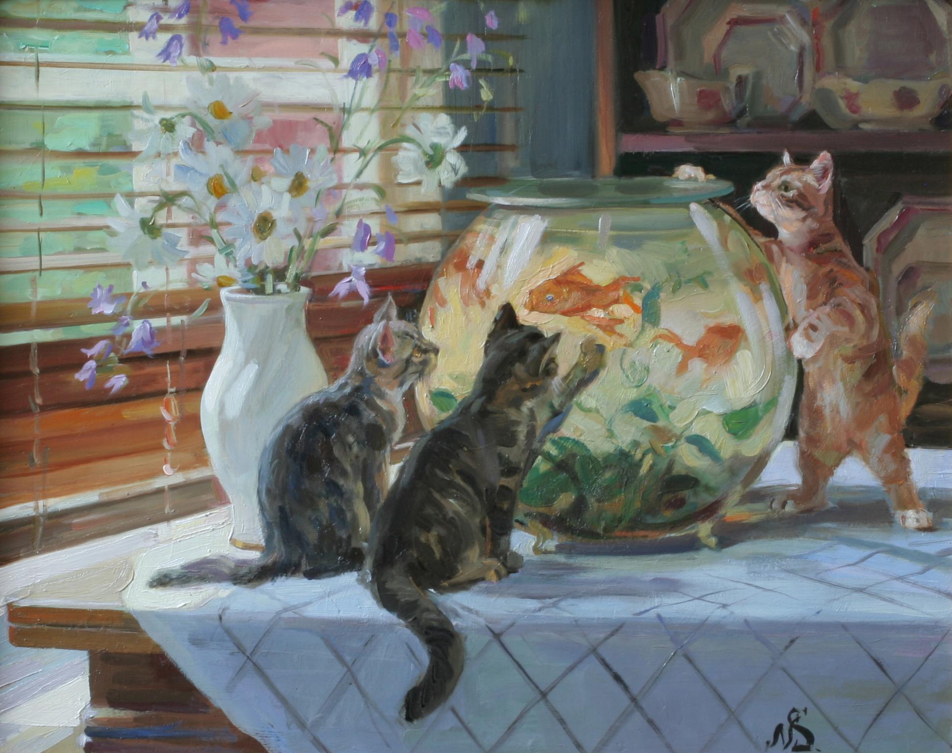 """""""Золотая рыбка"""" 2015; х., м.; 50х70"""
