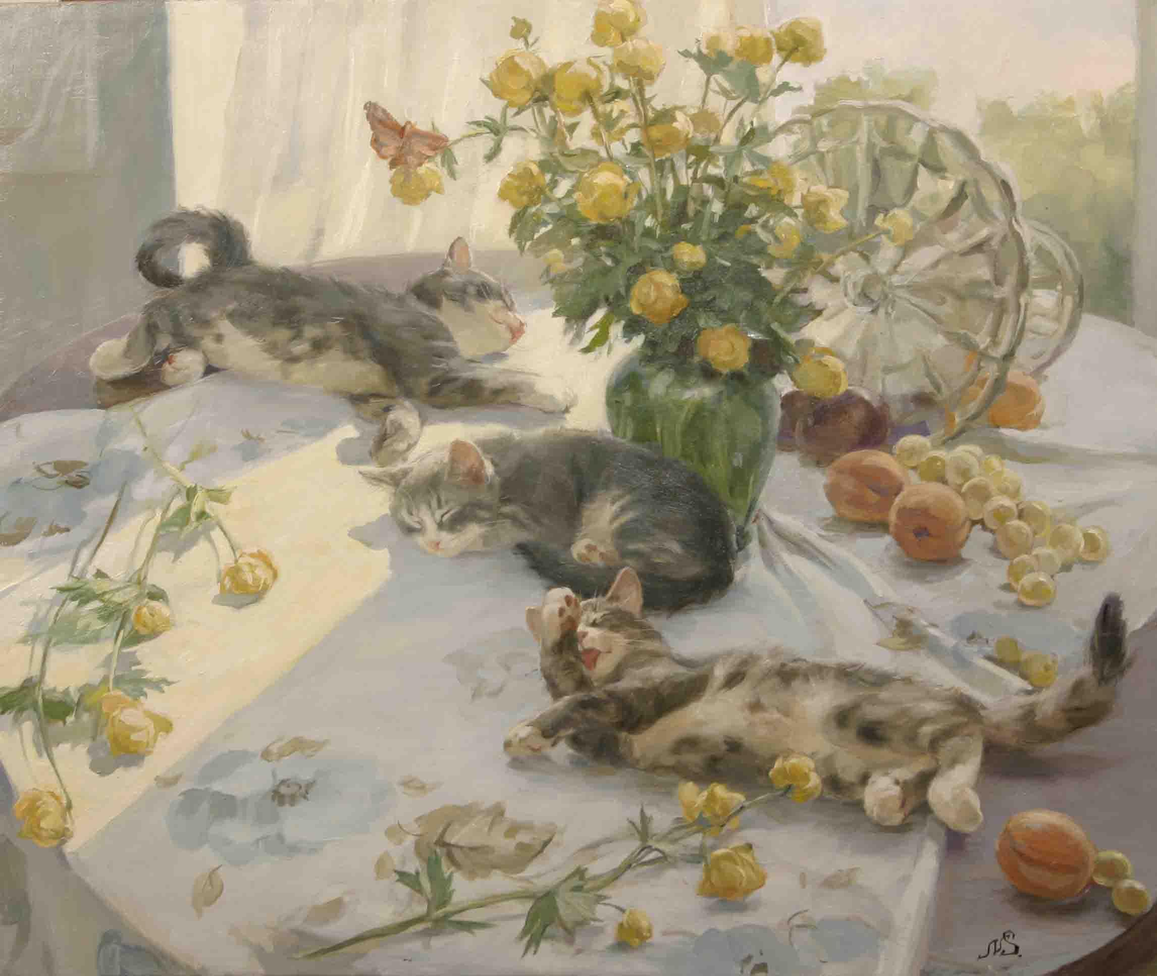 """""""Солнечный полдень."""" 2006; х.,м.; 60х70"""